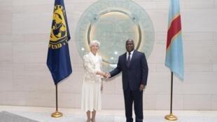 Le président congolais Félix Tshisekedi et la directrice générale du FMI Christine Lagarde, à Washington, le 5 avril 2019. (Photo d'illustration)