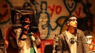 La première série afghane consacrée au rap en plein tournage à Kaboul.