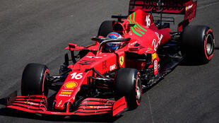 El piloto monegasco de Ferrari Charles Leclerc, durante la segunda sesión de ensayos libres en Mónaco el 20 de mayo de 2021, con vistas al Gran Premio de F1 en el circuito callejero del principado