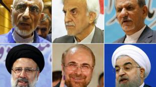 Candidatos às eleições presidenciais de 19 de maio no Irão.