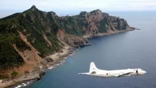 Máy bay tuần duyên Nhật Bản PC3 giám sát quanh khu vực có tranh chấp với Trung Quốc (ảnh chụp ngày 13/10/2011)