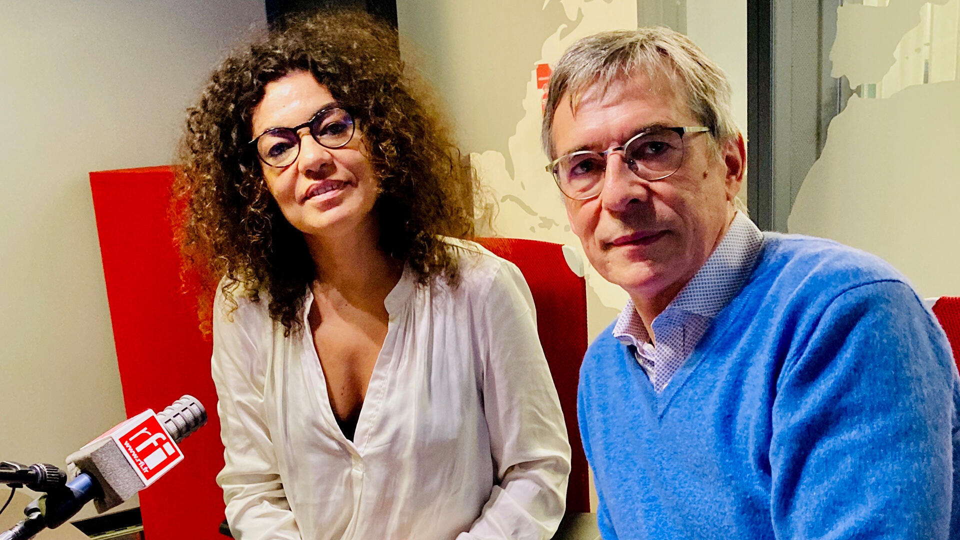 Ghizlane Sahli et Éric Bataillon.