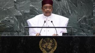 Le président nigérien Mahamadou Issoufou à la tribune des Nations unies le 24 septembre 2019.