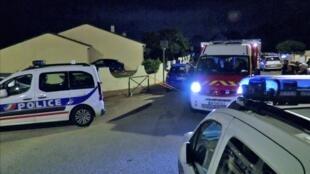 被恐怖分子杀害的法国一名警官和伴侣的自家住宅