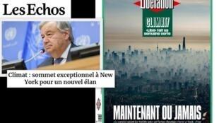 A Cúpula do Clima recebe a atenção dos jornais franceses nesta segunda-feira (23).