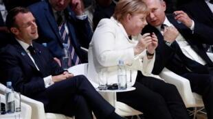 رهبران روسیه، آلمان و فرانسه در نشست ناتو در لندن