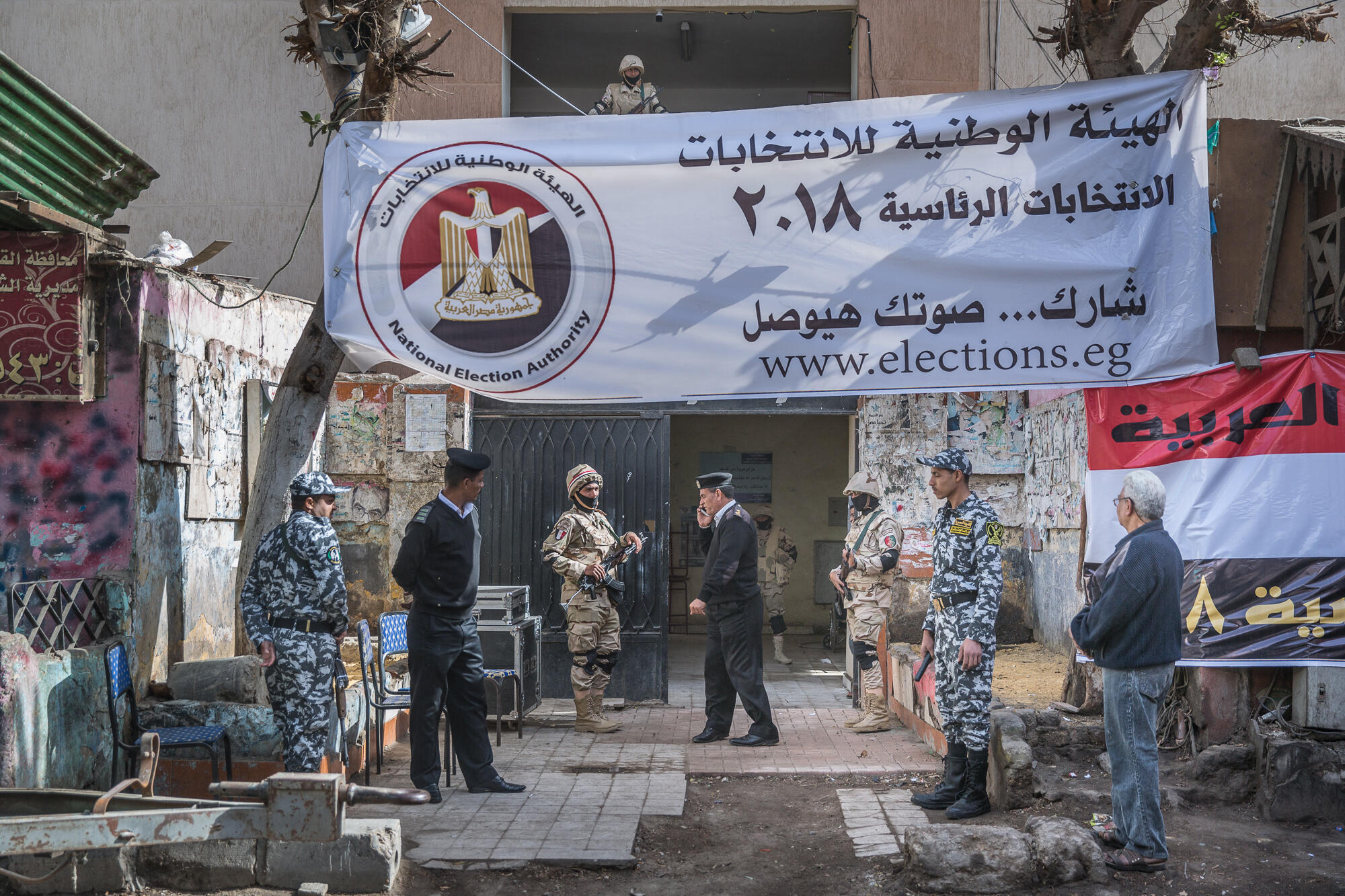Polling station in el-Gamaleya, the district where Abdel Fattah al-Sisi grew up in Cairo, 26 March 2018.