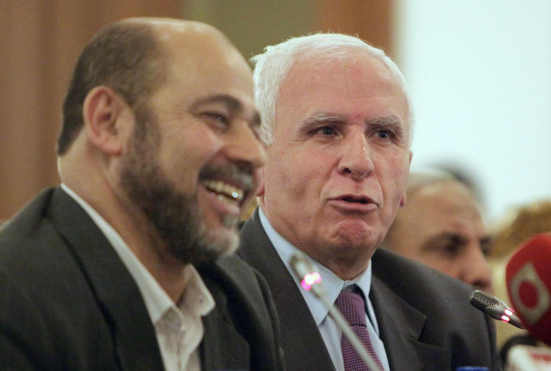 Ông M.A Marzouk, đại diện tổ chức Hamas và đại diện Al-Ahmed của Fatah tại Cairo (Reuters)