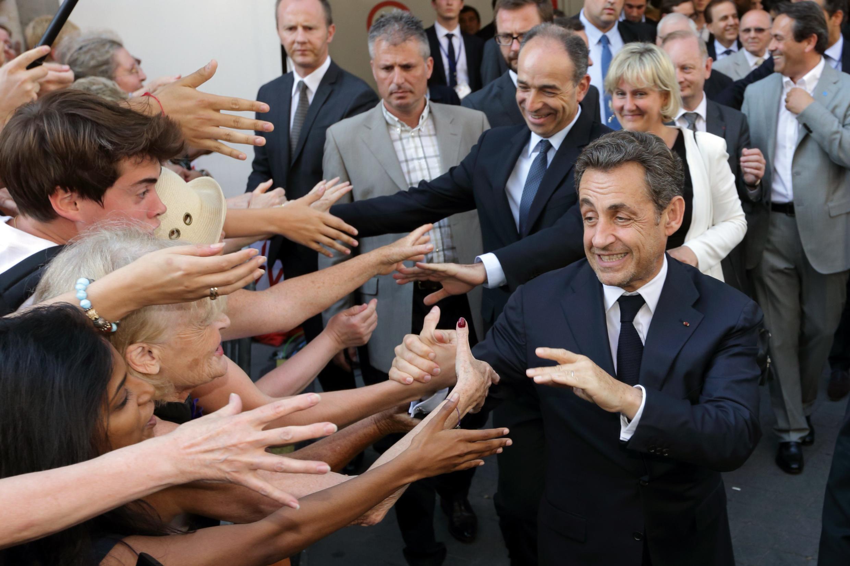 Nicolas Sarkozy at the UMP political party headquarters in Paris, 8 July, 2013