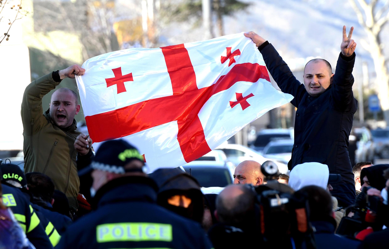 Image d'archive RFI - Les manifestants demandent la libération de Nika Melia