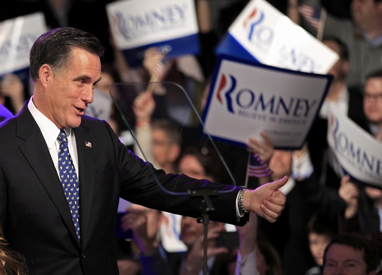 Ứng viên Mitt Romney tại New Hampshire 10/1/2012 (REUTERS)