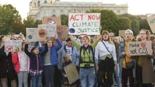 Manifestation pour la défense du climat, le 20 septembre 2019 à Vienne.