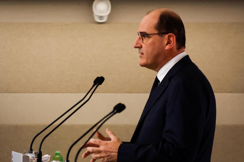 Премьер-министр Жан Кастекс на пресс-конйеренции 22 октября 2020.