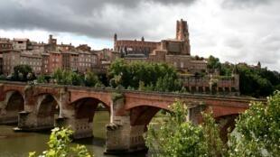 A cidade de Albi é famosa pela catedral de Santa Cecília (foto) e o palácio Berbie.