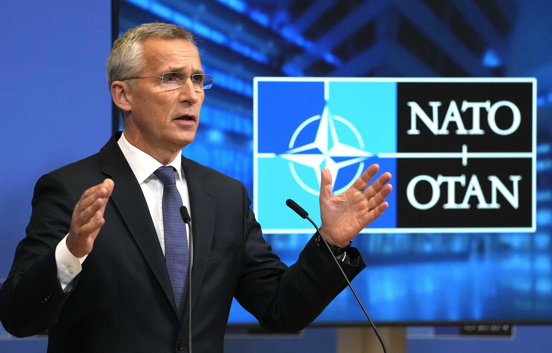 Jens Stoltenberg habla durante una rueda de prensa tras una reunión de consejeros de seguridad nacionales de la OTAN, el 7 de octubre de 2021 en Bruselas