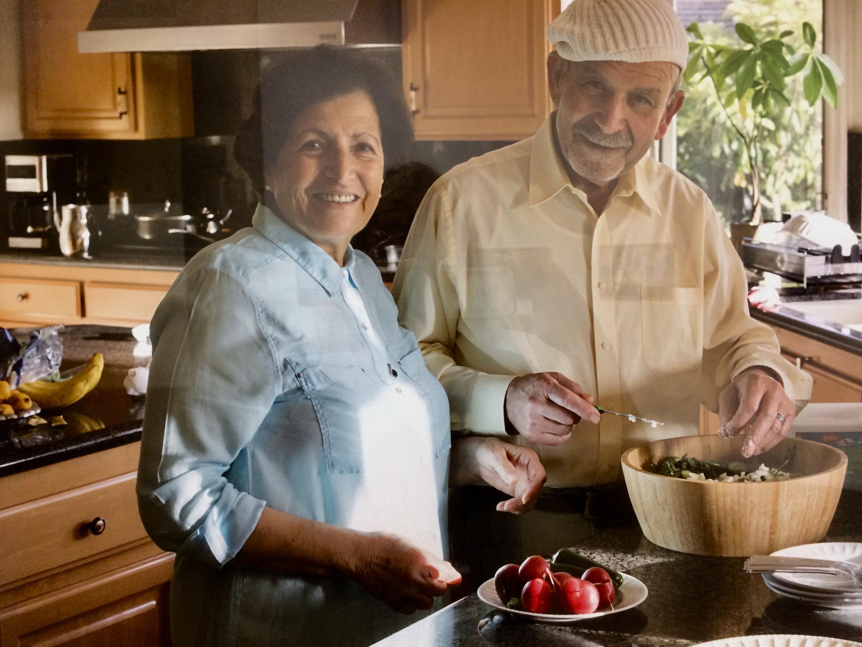 Khadra et Dr. Sobhi Batniji, Laguna Niguel (Californie). Image prise lors de l'exposition.