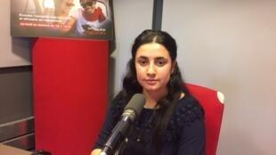 Ramia Daoud Ilias au micro de RFI.