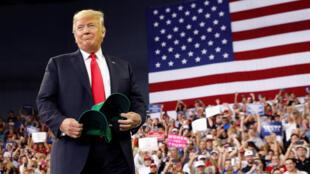 Tổng thống Donald Trump gặp nông dân Mỹ tại Evansville, bang Indiana, ngày 30/08/2018.