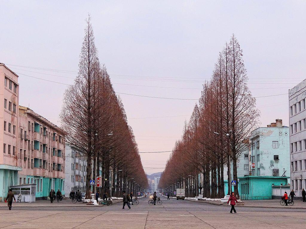 Một góc thành phố Pyongsong.
