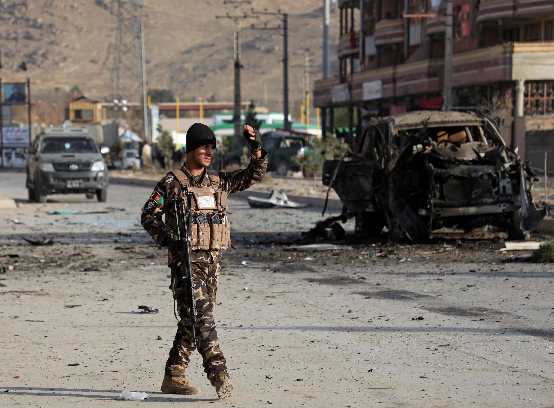 تصویری پس از یکی از حملات تروریستی در افغانستان