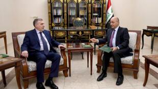 Le président irakien Barham Saleh a nommé Mohammed Allawi Premier ministre, le 1er février 2020, à Bagdad.