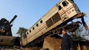 حادثه واژگونی قطار در نزدیکی قاهره ۱۰ فوریه / ۲۱ بهمن