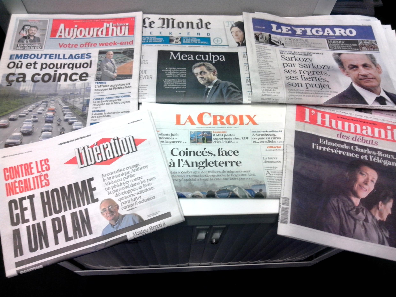 Primeiras páginas dos jornais franceses de 22/01/2016