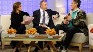 Los programas de TV de Estados Unidos se pelean la presencia del ex vagabundo. En la foto en NBC's Today en Nueva York