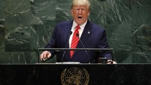 Tổng thống Mỹ Donald Trump đăng đàn phiên họp thường niên thứ 74 Đại Hội Đồng Liên Hiệp Quốc, tại New York ngày 24/09/2019.
