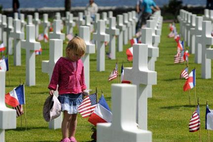 Le cimetière américain de Colleville-sur-Mer. Le président américain Barack Obamadoit yprononcer un discours devant 9.000 invités.