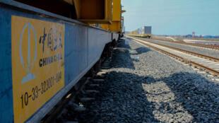 La gare de triage provisoire des trains de marchandises au port de Doraleh, à Djibouti.