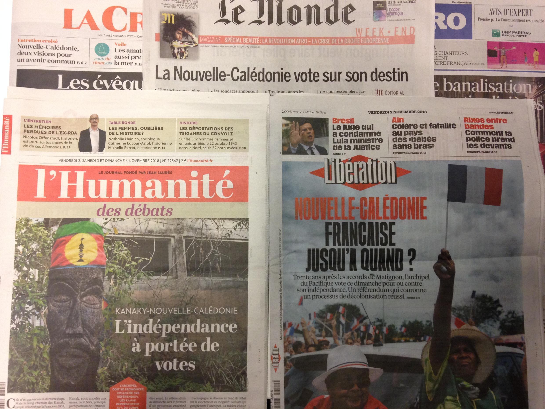 Imprensa francesa desta sexta-feira 2 de Novembro 2018.