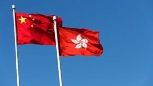 香港特区旗帜与中国国旗