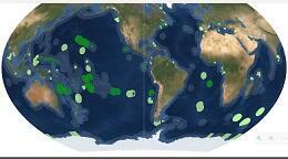 Mapa de áreas oceánicas protegidas.