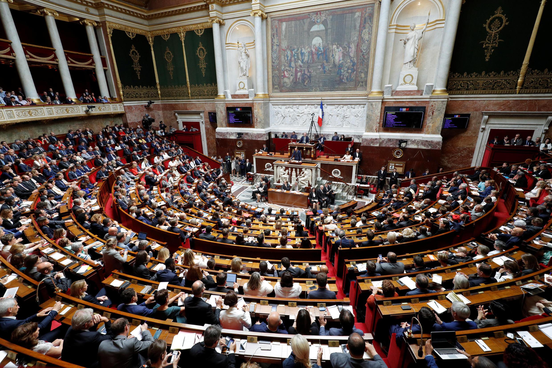 Assembleia Nacional francesa durante discurso de política geral do Primeiro-ministro, Edouard Philippe. Paris .04 de Julho de 2017