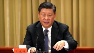 資料圖片:中國國家主席習近平。攝於2019年1月2日北京人大會堂紀念告台灣同胞書40周年大會。