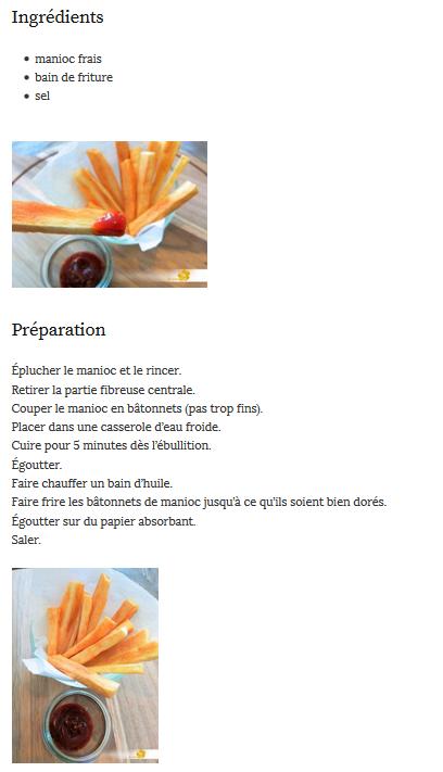 Les frites de manioc de Leslie Belliot