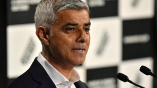 英國倫敦市長薩迪克·汗資料圖片