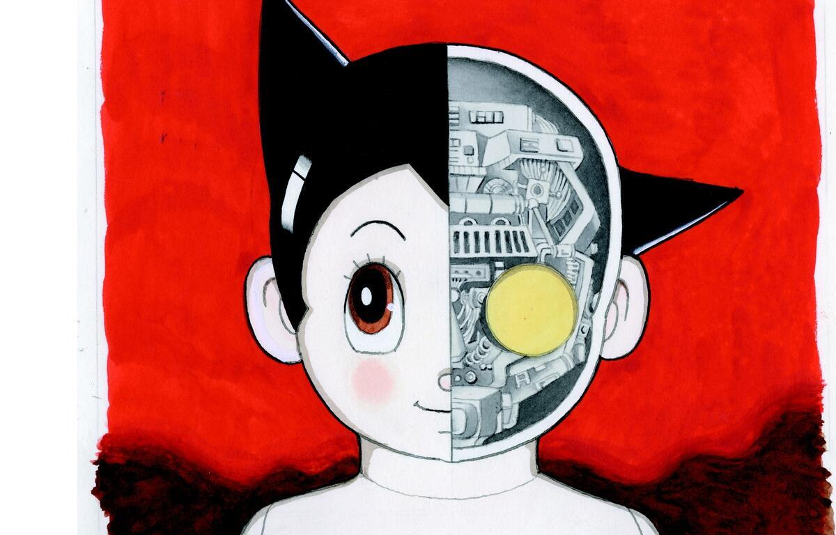 Astro boy, o personagem mais famoso de Osamu Tezuka.