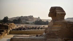 Le Sphinx de Gizeh, en janvier 2016. L'industrie du tourisme en Egypte a connu sa pire saison depuis quinze ans.