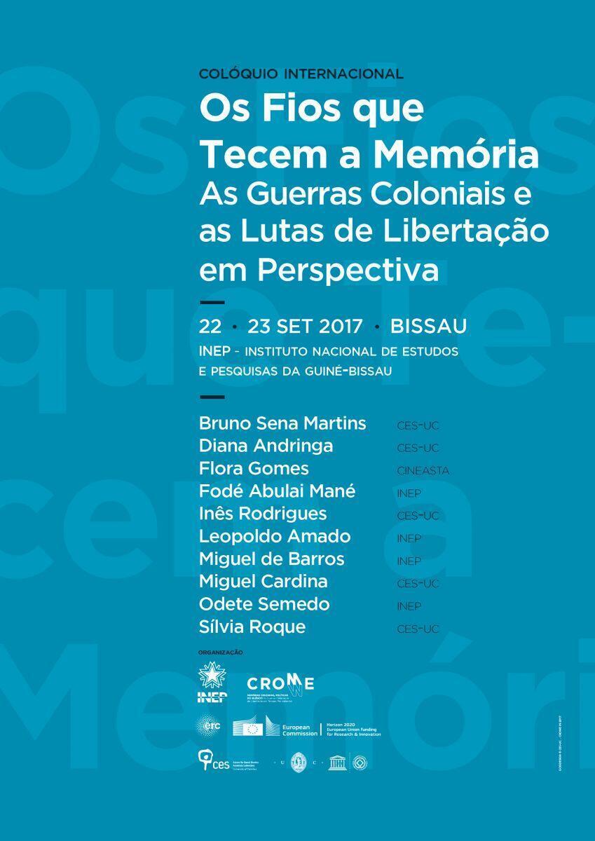 Colóquio em Bissau do INEP e do CES-UC a 22 e 23 de Setembro de 2017.