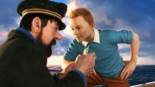 Tintin and Captain Haddock in the 2011 film The Adventurs of Tintin