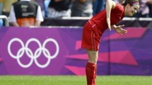 Диана Матесон, автор победного гола в ворота сборной Франции, Лондон, 9 августа 2012 года