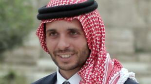 Jordan's Prince Hamzah bin Hussein shown in a file picture from 2015