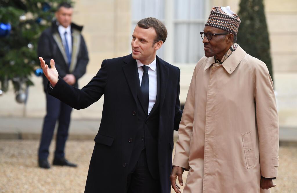 Shugaban Faransa Emmanuel Macron  da takwaransa na Najeriya Muhammadu Buhari