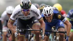 Peter Sagan, da equipa Tinkoff, vencedor da segunda etapa do 'Tour'.