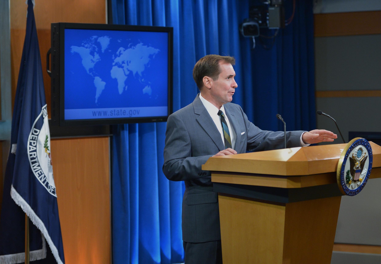 Phát ngôn viên bộ Ngoại giao Mỹ John Kirby - AFP /MANDEL NGAN
