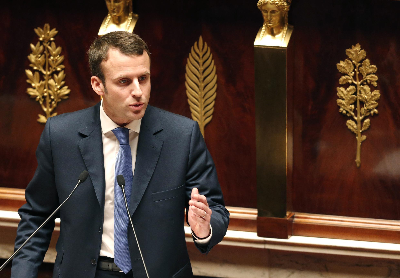 Ministre d'économie Emmanuel Macron.