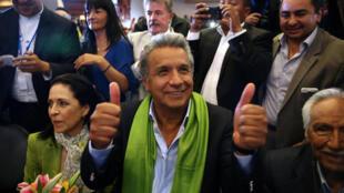 Lenin Moreno, ứng viên cánh tả trong cuộc bầu cử tổng thống Ecuador, Quito, 02/4/2017.