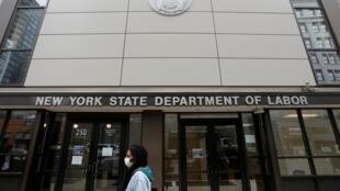 À Brooklyn, les bureaux du département du Travail de l'État de New York.